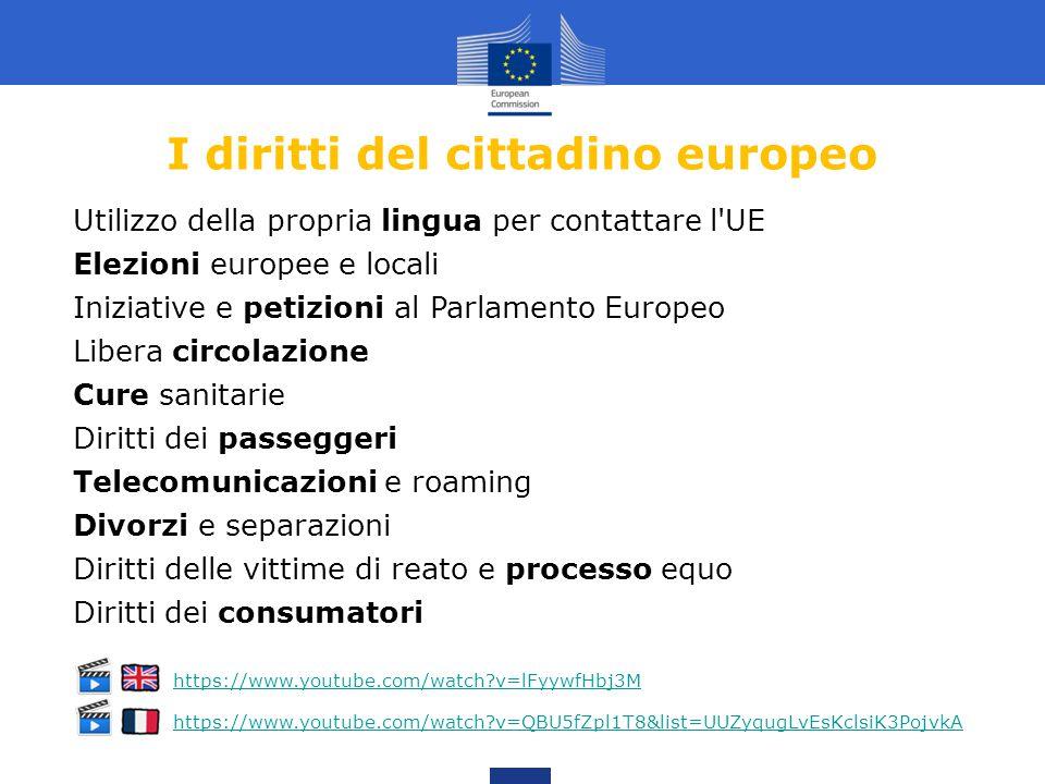 I diritti del cittadino europeo