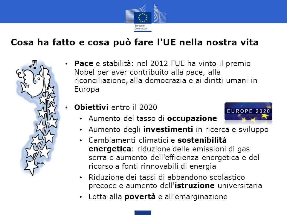 Cosa ha fatto e cosa può fare l UE nella nostra vita