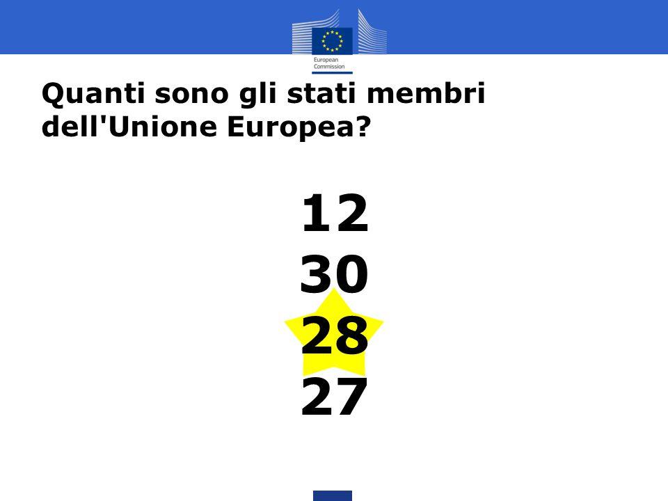 Quanti sono gli stati membri dell Unione Europea