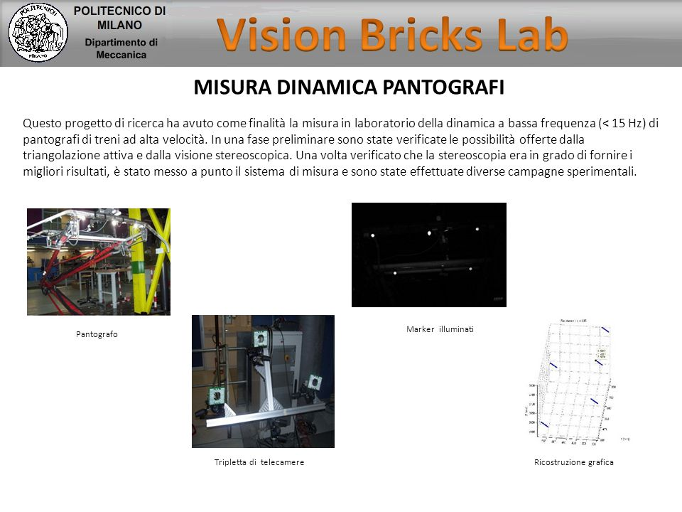 Vision Bricks Lab MISURA DINAMICA PANTOGRAFI
