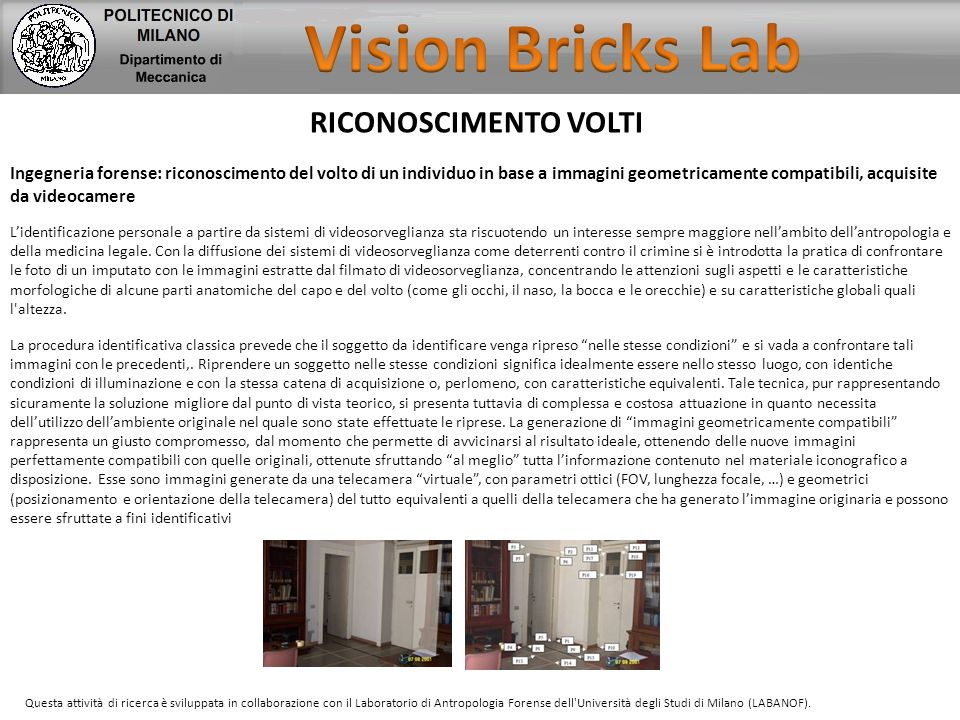 Vision Bricks Lab RICONOSCIMENTO VOLTI