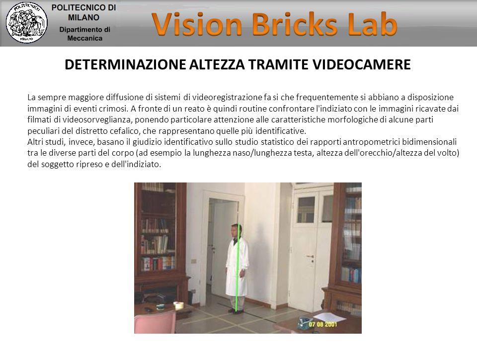 Vision Bricks Lab DETERMINAZIONE ALTEZZA TRAMITE VIDEOCAMERE
