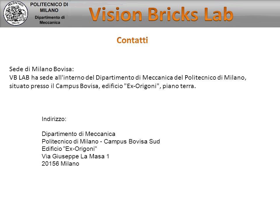 Vision Bricks Lab Contatti Sede di Milano Bovisa: