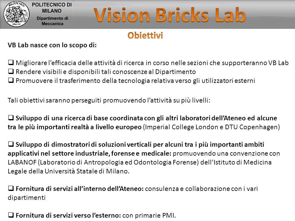 Vision Bricks Lab Obiettivi VB Lab nasce con lo scopo di: