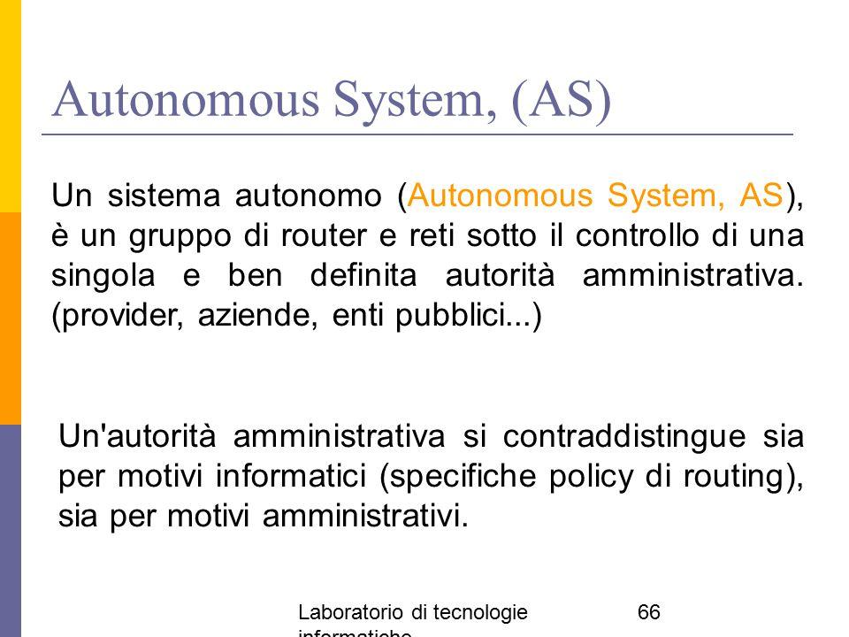 Autonomous System, (AS)