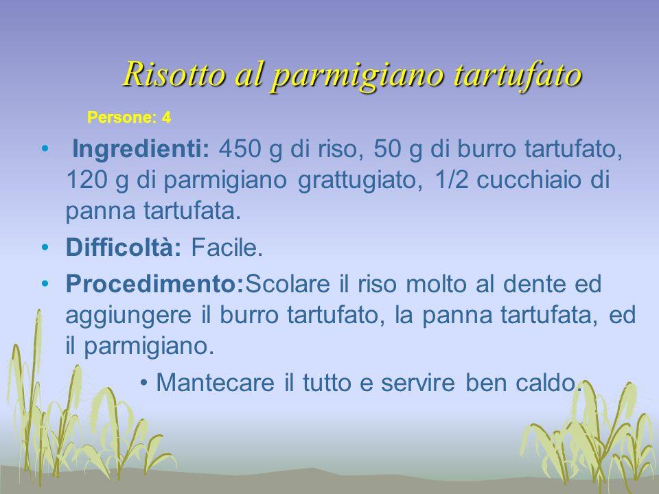 Risotto al parmigiano tartufato