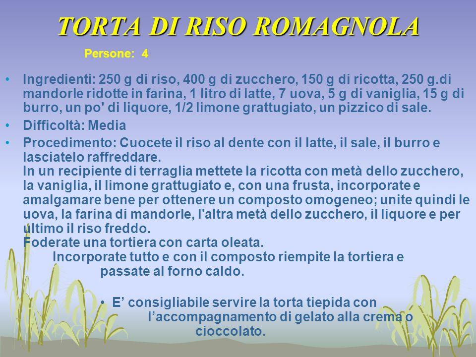 TORTA DI RISO ROMAGNOLA