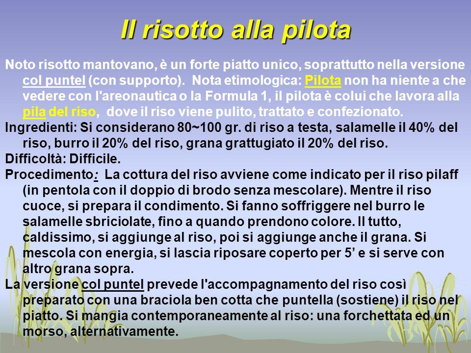 Il risotto alla pilota