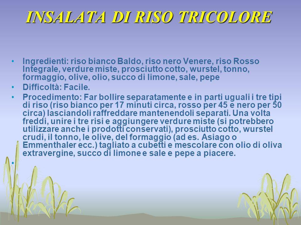 INSALATA DI RISO TRICOLORE