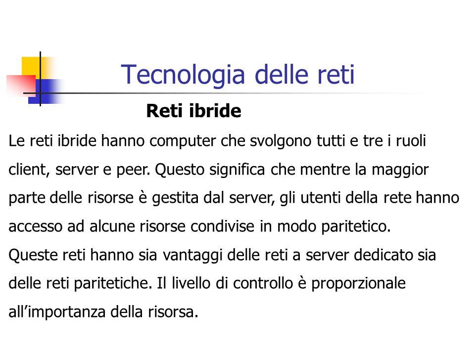 Tecnologia delle reti Reti ibride