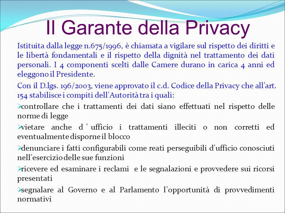 Il Garante della Privacy