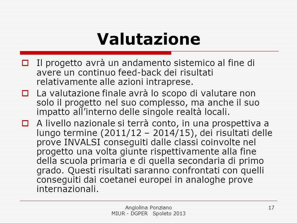 Angiolina Ponziano MIUR - DGPER Spoleto 2013