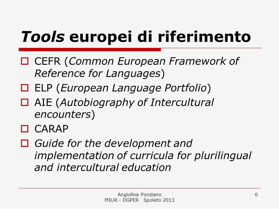 Tools europei di riferimento