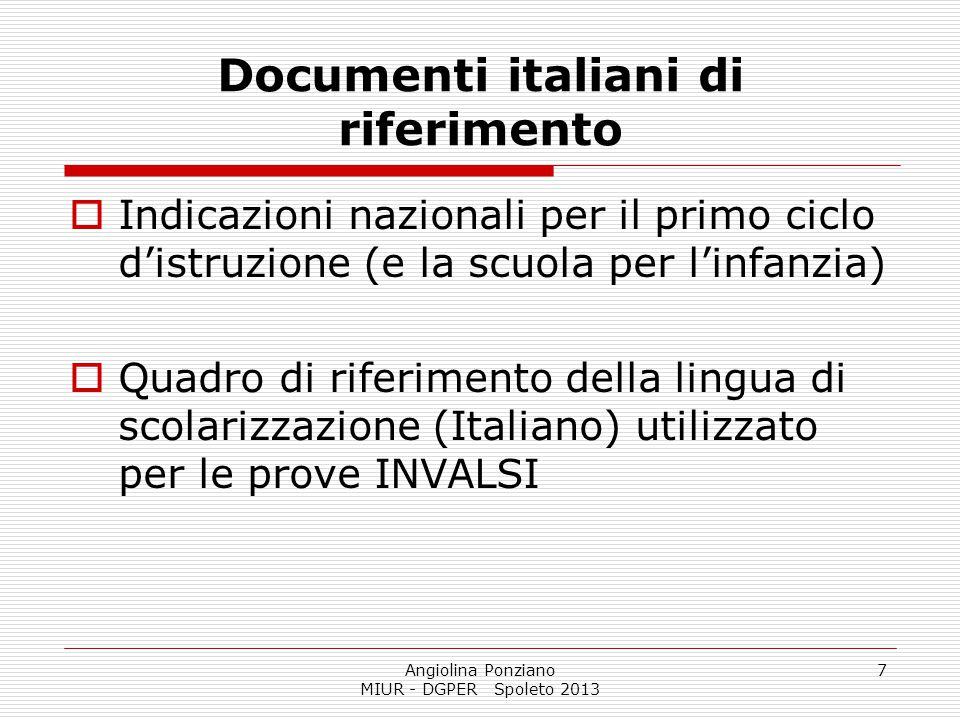 Documenti italiani di riferimento
