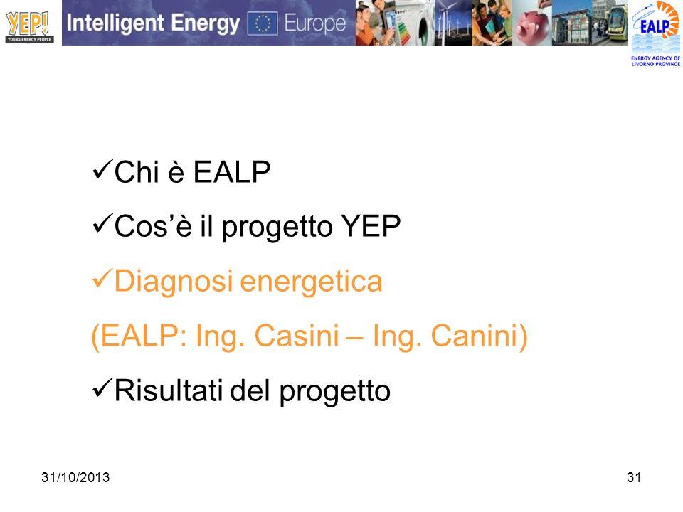 (EALP: Ing. Casini – Ing. Canini) Risultati del progetto