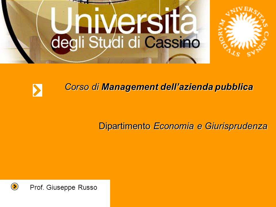 Corso di Management dell'azienda pubblica