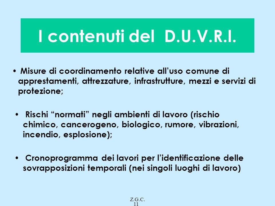 I contenuti del D.U.V.R.I.