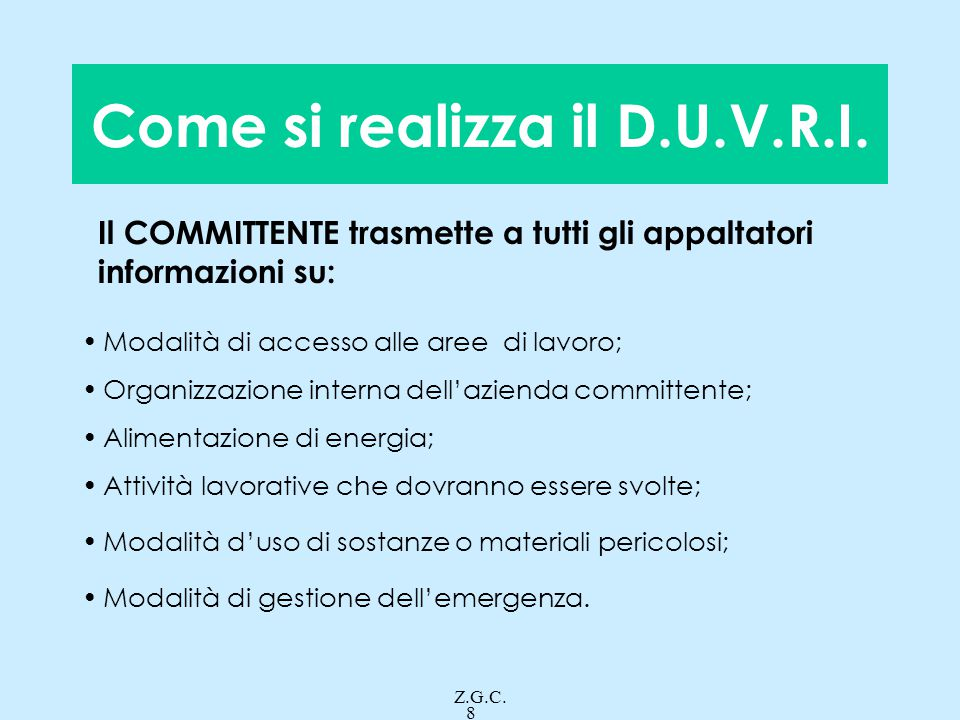 Come si realizza il D.U.V.R.I.