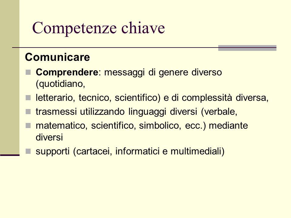 Competenze chiave Comunicare