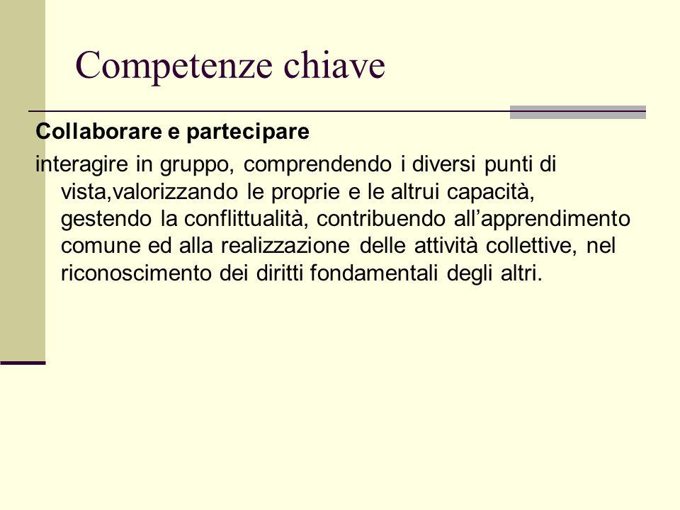 Competenze chiave Collaborare e partecipare