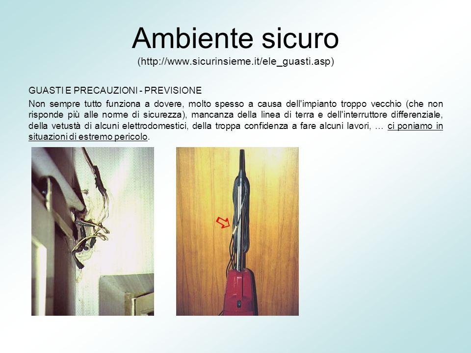 Ambiente sicuro (http://www.sicurinsieme.it/ele_guasti.asp)