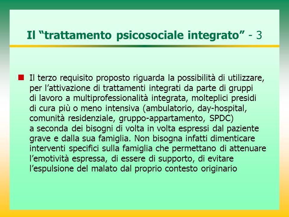 Il trattamento psicosociale integrato - 3