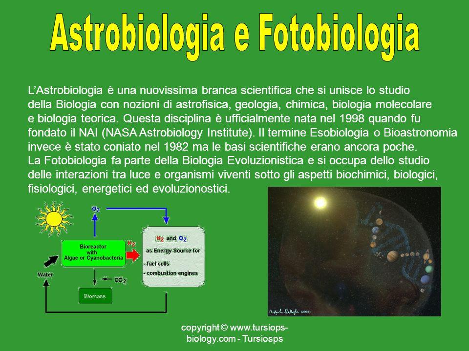 Astrobiologia e Fotobiologia