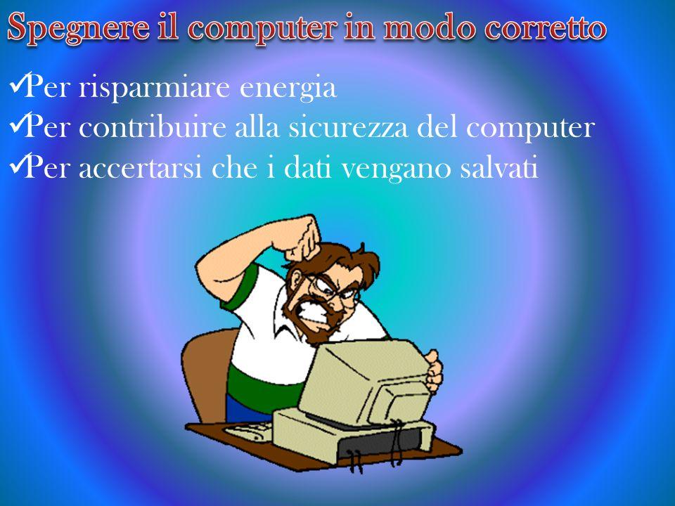 Spegnere il computer in modo corretto