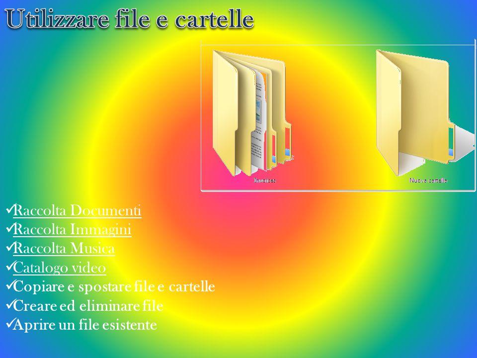 Utilizzare file e cartelle