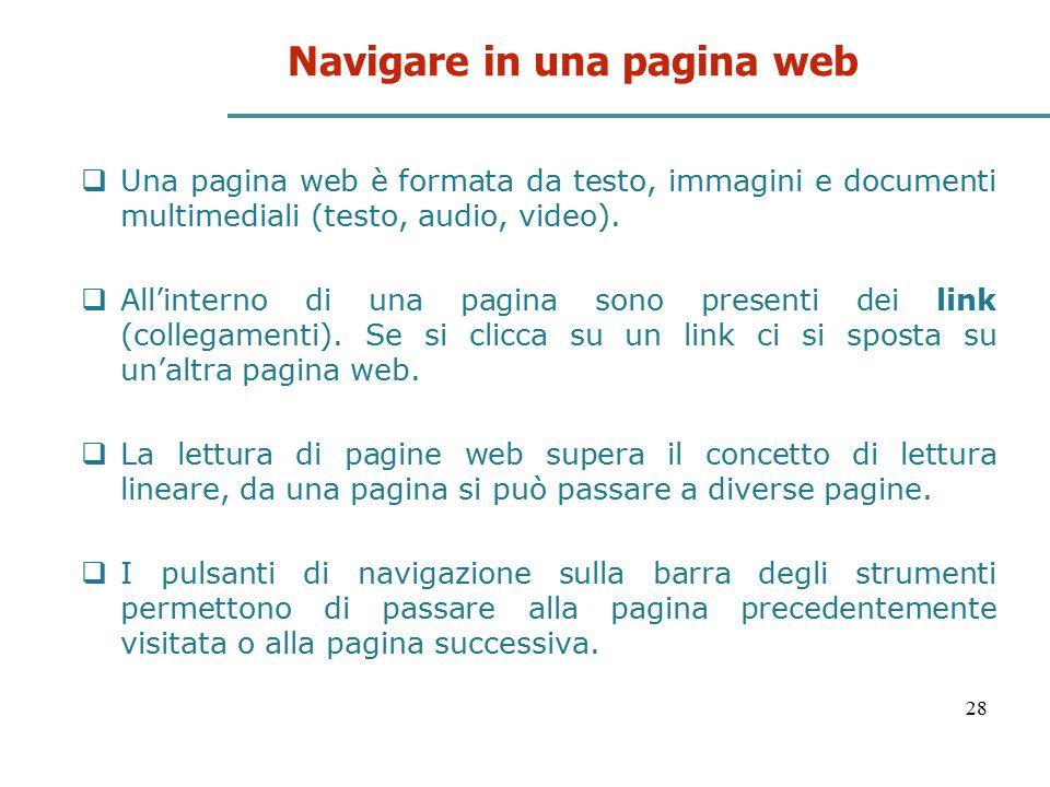Navigare in una pagina web