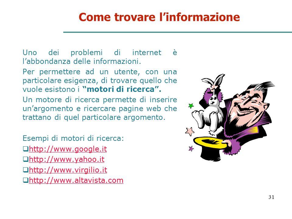 Come trovare l'informazione