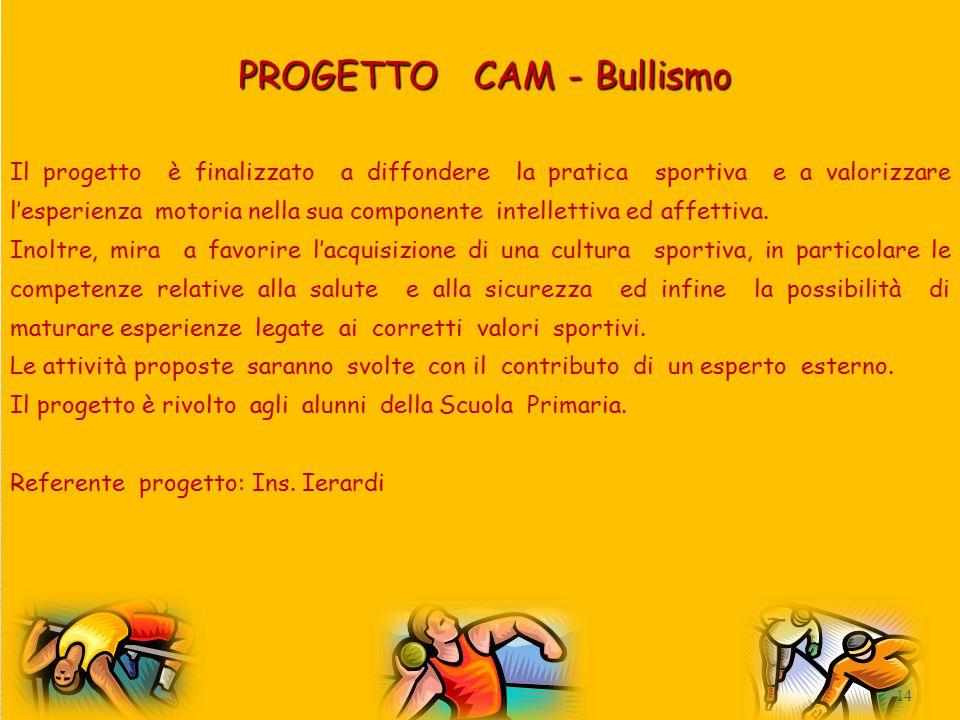 PROGETTO CAM - Bullismo