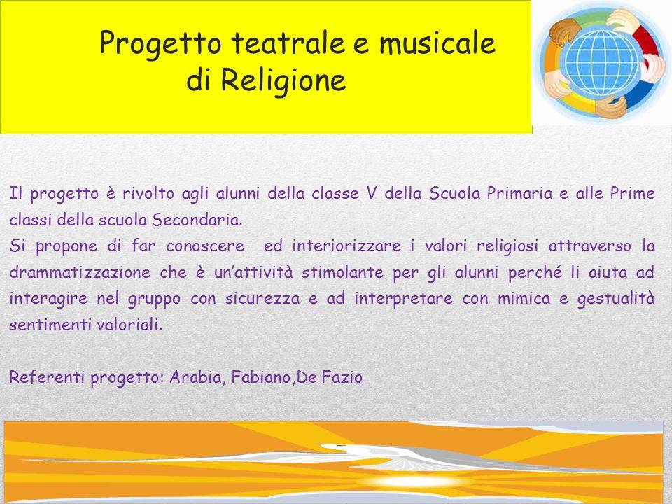 Progetto teatrale e musicale di Religione