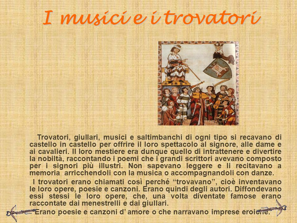 I musici e i trovatori