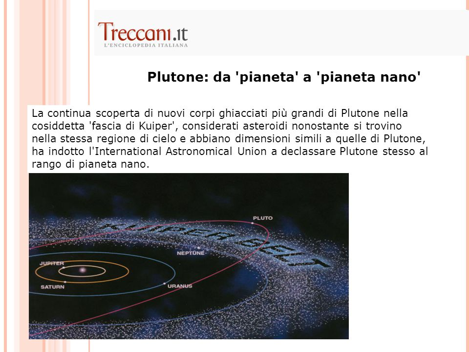 Plutone: da pianeta a pianeta nano