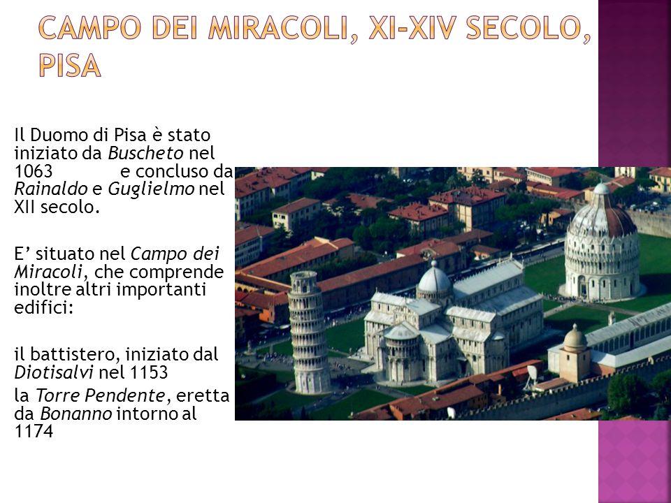 Campo dei Miracoli, XI-XIV secolo, Pisa