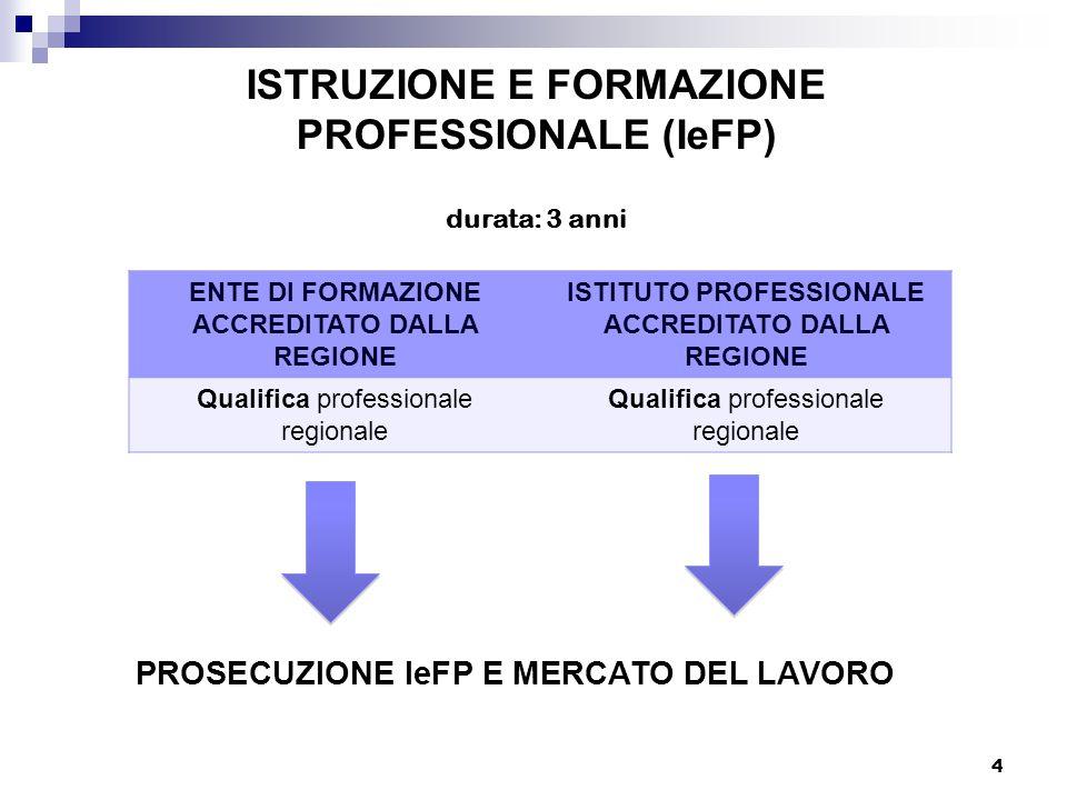 ISTRUZIONE E FORMAZIONE PROFESSIONALE (IeFP)