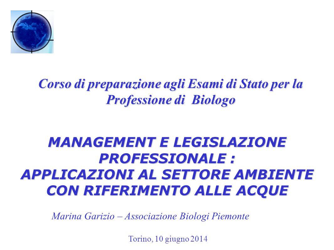 MANAGEMENT E LEGISLAZIONE PROFESSIONALE :