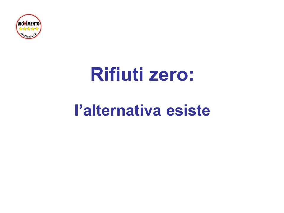 Rifiuti zero: l'alternativa esiste