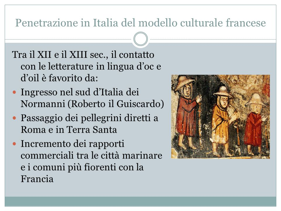 Penetrazione in Italia del modello culturale francese