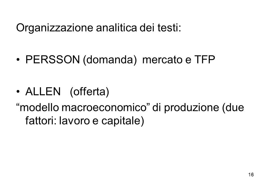 Organizzazione analitica dei testi: