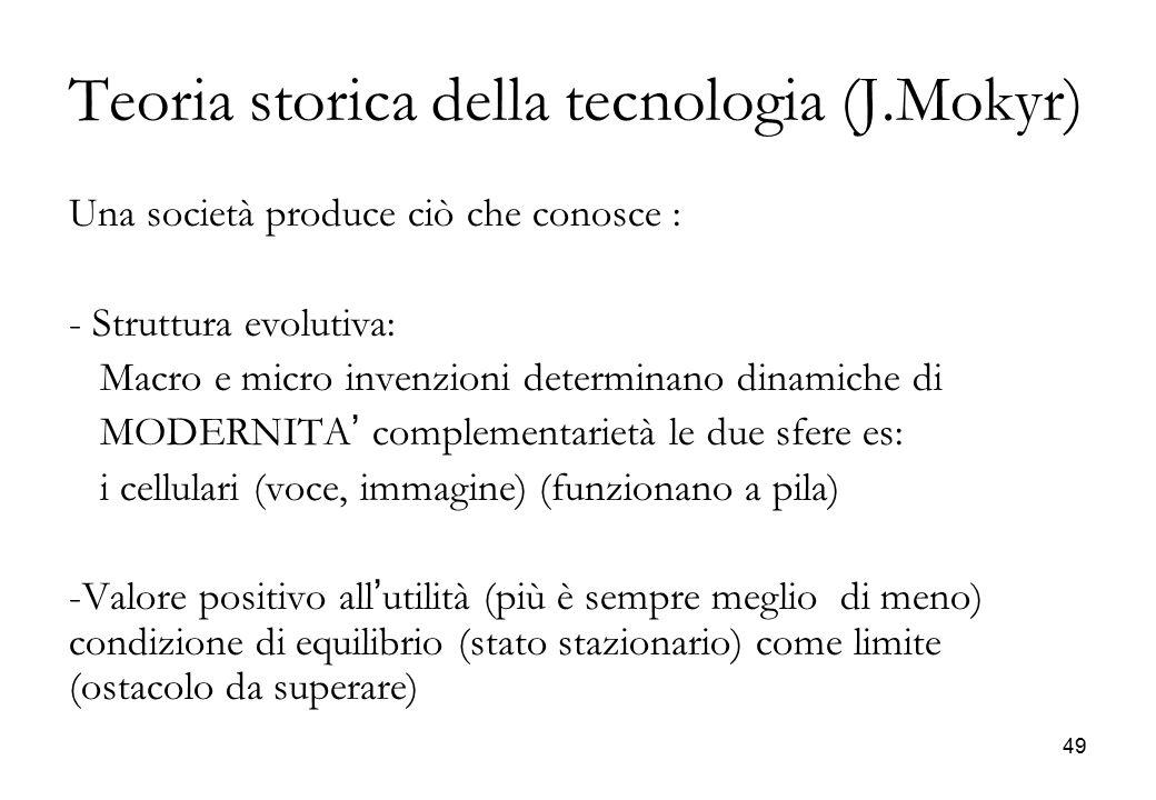 Teoria storica della tecnologia (J.Mokyr)