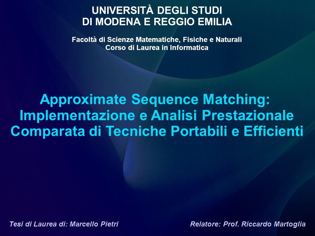 Approximate Sequence Matching: Implementazione e Analisi Prestazionale