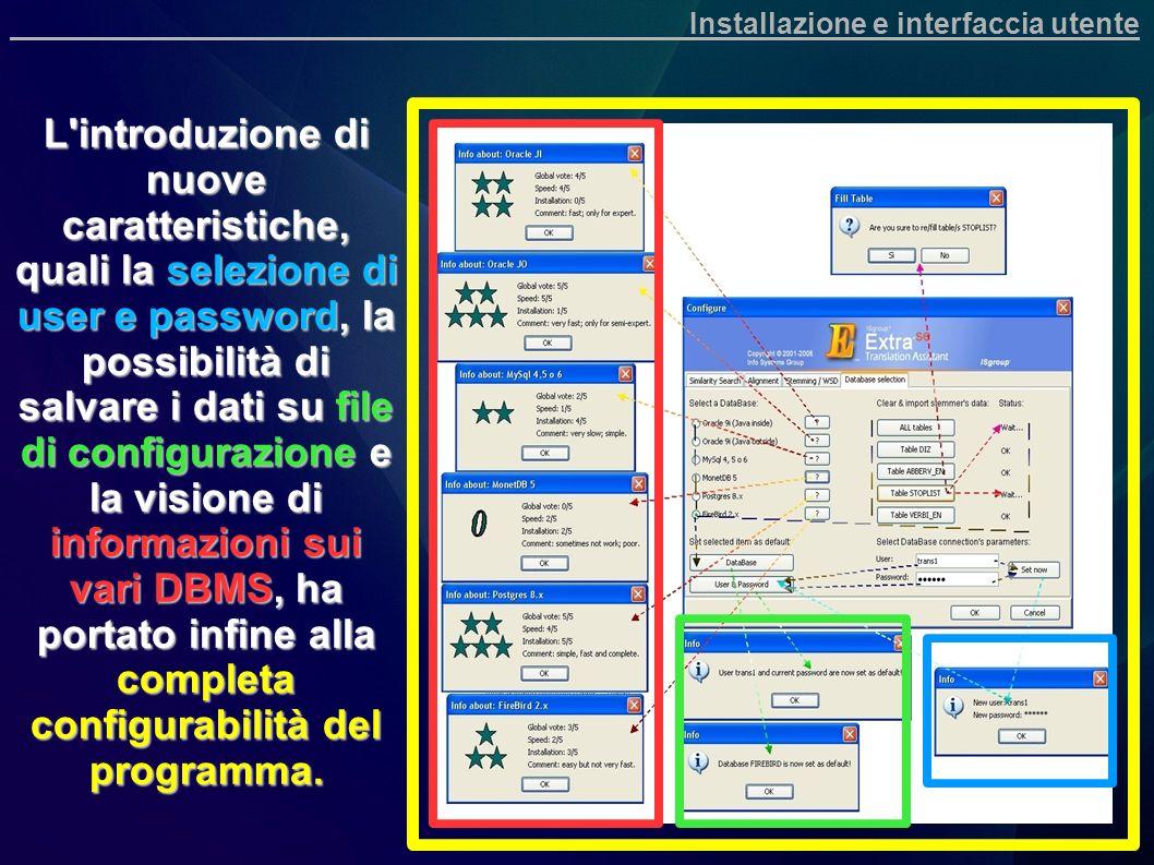 Installazione e interfaccia utente