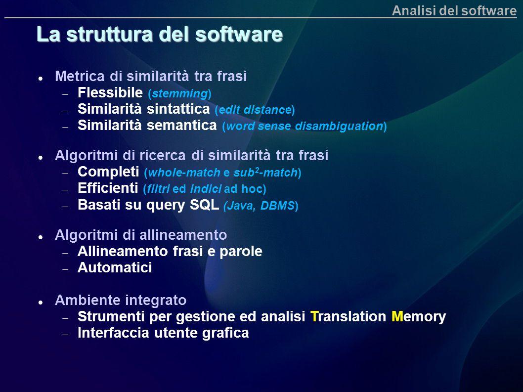La struttura del software
