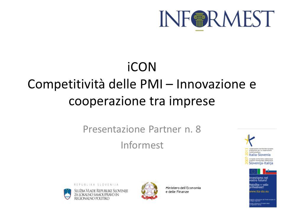 iCON Competitività delle PMI – Innovazione e cooperazione tra imprese