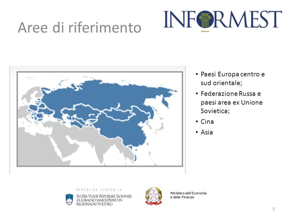 Aree di riferimento Paesi Europa centro e sud orientale;