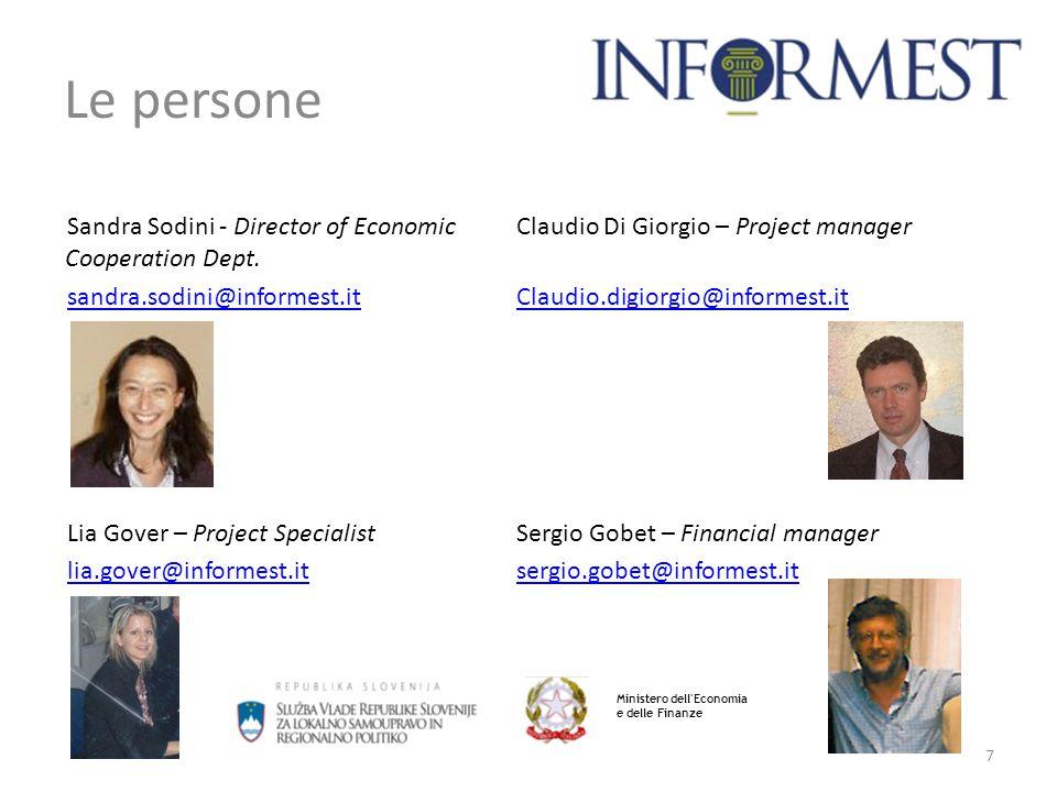 Le persone Sandra Sodini - Director of Economic Cooperation Dept.