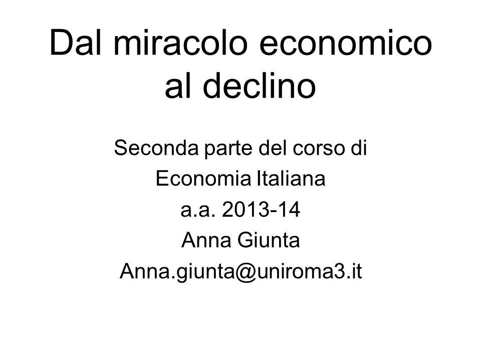 Dal miracolo economico al declino