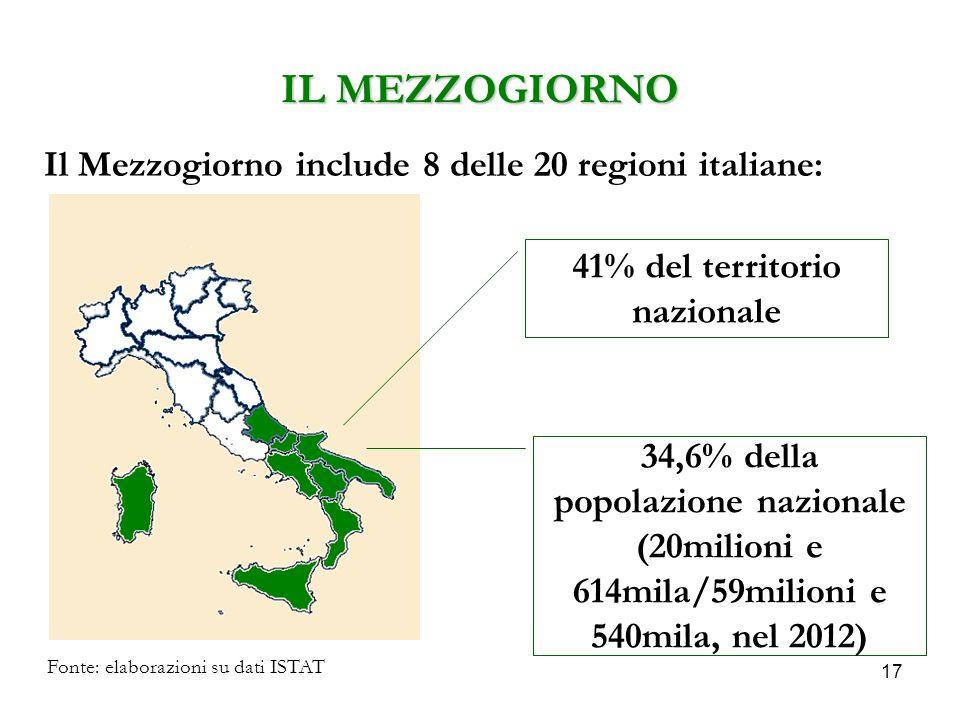 41% del territorio nazionale
